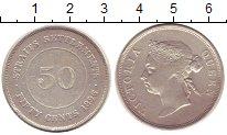 Изображение Монеты Стрейтс-Сеттльмент 50 центов 1896 Серебро VF