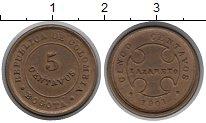 Изображение Монеты Колумбия 5 сентаво 1901 Бронза XF Лепразорий