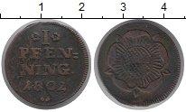 Изображение Монеты Липпе-Детмольд 1 пфенниг 1802 Медь VF