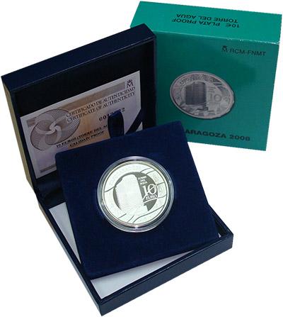 Изображение Подарочные монеты Италия Экспо-2008,Сарагоса 2007 Серебро Proof