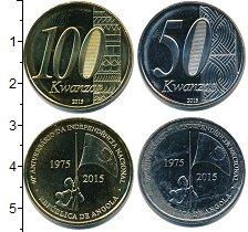 Изображение Наборы монет Ангола 100 кванза 2015 Медно-никель UNC В наборе 2 монет ном