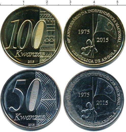 Картинка Наборы монет Ангола 100 кванза Медно-никель 2015
