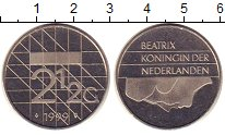 Изображение Монеты Нидерланды 2 1/2 гульдена 1999 Медно-никель UNC-