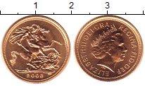 Изображение Монеты Великобритания 1/2 соверена 2003 Золото UNC