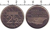 Изображение Монеты Нидерланды 2 1/2 гульдена 1983 Медно-никель UNC-