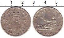 Изображение Монеты Испания 2 песеты 1869 Серебро XF- Временное правительс