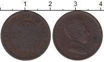 Изображение Монеты Испания 2 сентима 1904 Медь VF Альфонсо XIII.
