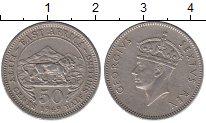 Монета Восточная Африка 50 центов Медно-никель 1949 XF фото