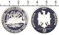 Изображение Монеты Молдавия 50 лей 2015 Серебро Proof Сохранение животного