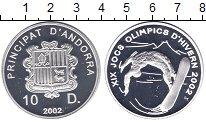 Изображение Монеты Андорра 10 динерс 2002 Серебро Proof Олимпиада 2002.