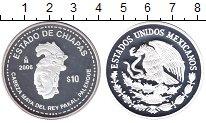 Изображение Монеты Мексика 10 песо 2006 Серебро Proof Штат  Чиапас.