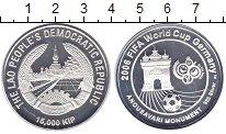Изображение Монеты Лаос 15.000 кип 2006 Серебро Proof Чемпионат  мира  по