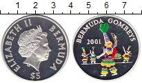 Изображение Монеты Бермудские острова 5 долларов 2001 Серебро Proof
