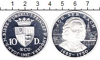 Изображение Монеты Андорра 10 динерс 1997 Серебро Proof Иоганн  С.  Бах.