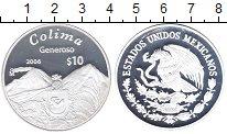 Изображение Монеты Мексика 10 песо 2006 Серебро Proof Колима.