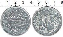 Изображение Монеты Турция 15000000 лир 2003 Серебро Proof-