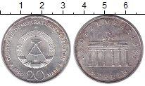 Изображение Монеты ГДР 20 марок 1990 Серебро UNC- Открытие  Бранденбур