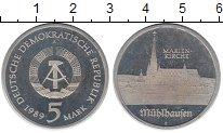 Изображение Монеты ГДР 5 марок 1989 Медно-никель Proof- А   Кирха  Святой  М