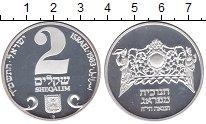 Изображение Монеты Израиль 2 шекеля 1983 Серебро Proof Ханукка.Пражская лам