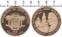 Изображение Монеты Кот-д`Ивуар 100 франков 2012 Латунь UNC Визит  Понтифика  Бе
