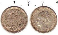 Изображение Монеты Нидерланды 25 центов 1943 Серебро XF