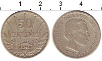 Изображение Монеты Уругвай 50 сентесимо 1943 Серебро VF