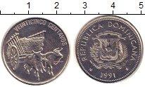 Изображение Монеты Доминиканская республика 25 сентаво 1991 Медно-никель XF