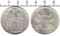 Изображение Монеты Ватикан 1000 лир 1988 Серебро UNC