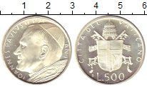 Изображение Монеты Ватикан 500 лир 1980 Серебро Proof-