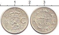 Изображение Монеты Нидерландская Индия 1/4 гульдена 1941 Серебро XF Герб