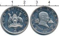 Изображение Монеты Уганда 2 шиллинга 1969 Серебро Proof-