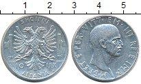 Изображение Монеты Албания 10 лек 1939 Серебро XF