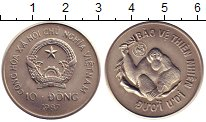 Изображение Монеты Вьетнам 10 донг 1987 Медно-никель UNC Защита  дикой  приро