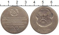 Изображение Монеты ГДР 20 марок 1983 Медно-никель UNC Карл  Маркс.