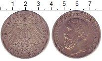 Изображение Монеты Баден 5 марок 1898 Серебро XF