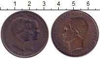 Изображение Монеты Бельгия 10 сентим 1853 Медь VF