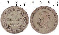 Изображение Монеты Германия Гессен 1 талер 1820 Серебро VF