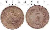 Изображение Монеты Япония 1 йена 1889 Серебро XF Дракон.