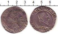 Изображение Монеты Франция 1 тестон 1582 Серебро VF Генри IIII