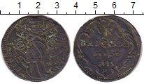 Изображение Монеты Ватикан 1 байоччи 1735 Медь VF