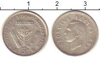 Изображение Монеты ЮАР 3 пенса 1950 Серебро XF