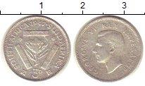 Изображение Монеты ЮАР 3 пенса 1947 Серебро XF