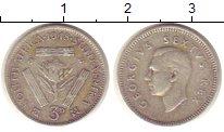 Изображение Монеты ЮАР 3 пенса 1948 Серебро XF
