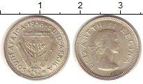 Изображение Монеты ЮАР 3 пенса 1956 Серебро XF