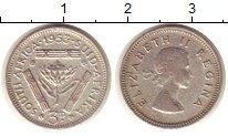 Изображение Монеты ЮАР 3 пенса 1953 Серебро XF