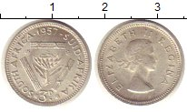 Изображение Монеты ЮАР 3 пенса 1957 Серебро XF