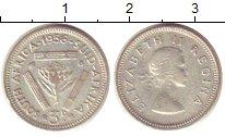 Изображение Монеты ЮАР 3 пенса 1956 Серебро XF Елизавета II.