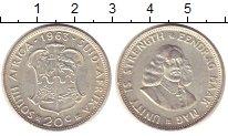 Изображение Монеты ЮАР 20 центов 1963 Серебро XF