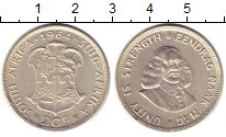 Изображение Монеты ЮАР 20 центов 1964 Серебро XF Йохан  Ван  Рибек.