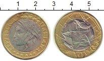 Изображение Монеты Италия 1000 лир 1997 Биметалл UNC- Карта Европы: ФРГ бе